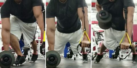 trx dumbbell row workout
