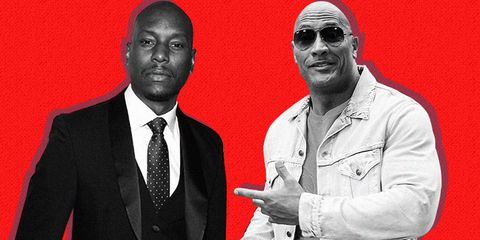 the rock and tyrese gibson feud