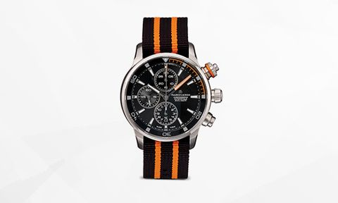 Analog watch, Watch, Watch accessory, Strap, Fashion accessory, Orange, Jewellery, Brand, Material property, Hardware accessory,