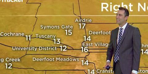 weatherman hilarious on screen slip up
