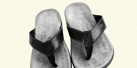 woman don't want you wear flip flops