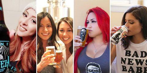 women who love beer