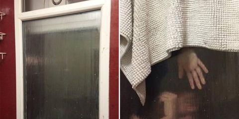 woman stuck getting poop out of bathroom window