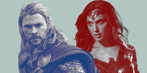 wonderwoman vs thor