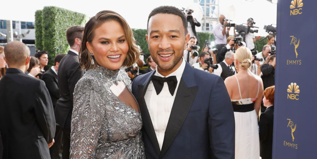 Chrissy Teigen Had a Snarky Response to a Commenter Who Asked If She Was Pregnant at the Emmys