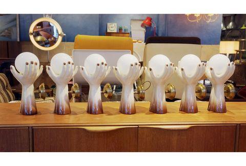 1970s 義大利 雙手陶瓷壁燈