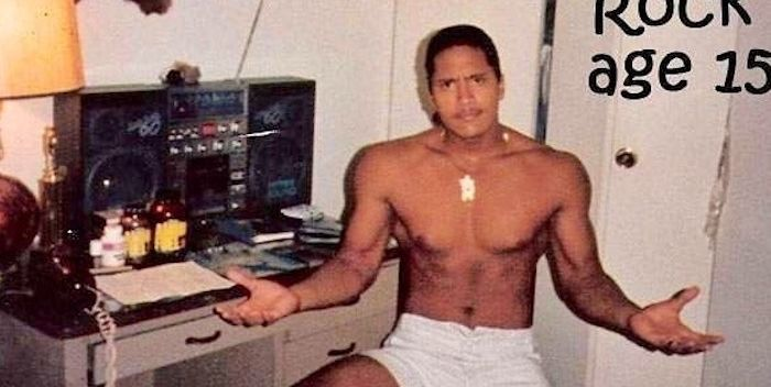 Dwayne 'The Rock' Johnson Posts Insane Throwback Pic at Just 15 Years Old