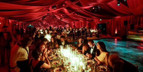 Function hall, Red, Lighting, Event, Ceremony, Party, Fun, Wedding reception, Ballroom, Banquet,