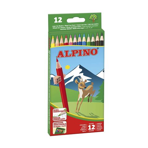 Caja de 12 lápices de colores Alpino