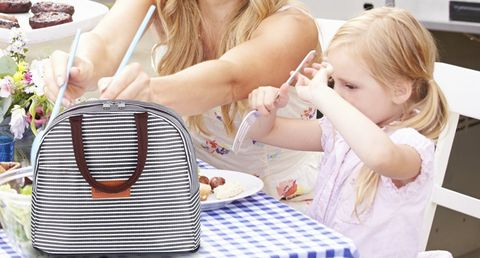 Child, Vacation, Diaper bag, Summer, Picnic, Recreation, Lunch, Basket, Fashion accessory, Brunch,