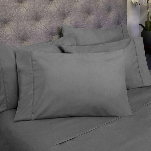 Bedding, Purple, Textile, Linens, Pillow, Furniture, Cushion, Duvet, Throw pillow,