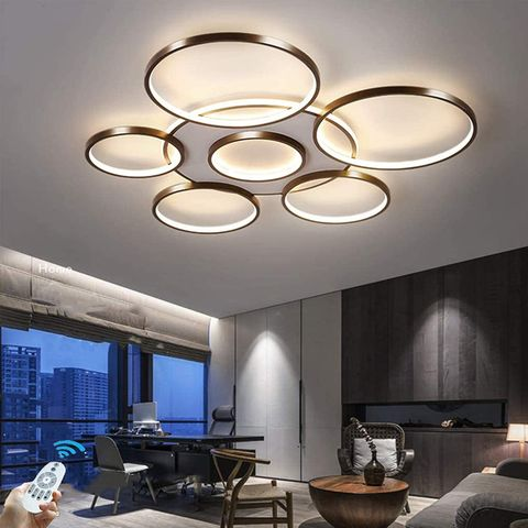 circle overhead lights
