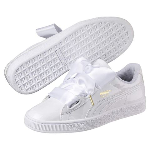 amazon prime dayPuma Women's Basket Heart Patent WN's White Low-Top Sneakers