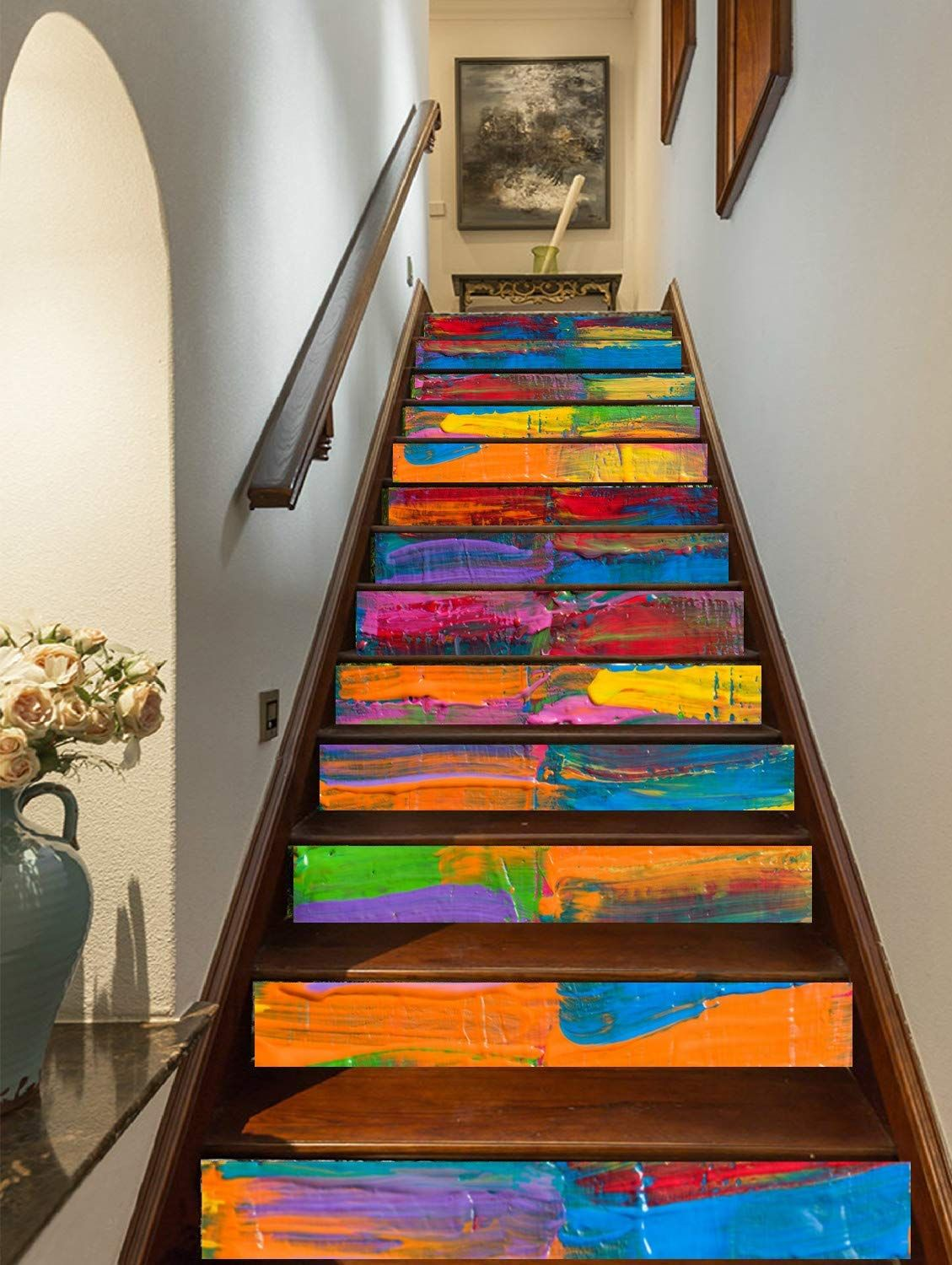 Need Some Stair Design Inspo? Decorate Your Stairs With These Trompe-L'Oeil Stickers