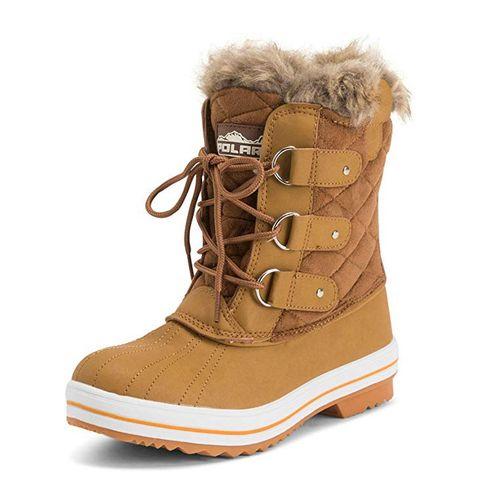 Footwear, Boot, Snow boot, Shoe, Brown, Fur, Tan, Beige, Durango boot, Hiking boot,