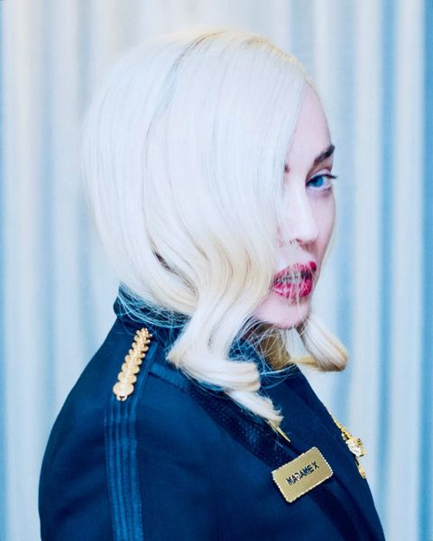 Hair, Blue, Face, White, Lip, Blond, Hairstyle, Beauty, Pink, Chin,