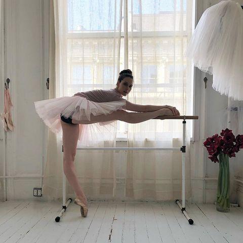 White, Ballet dancer, Leg, Dance, Ballet tutu, Footwear, Ballet, Interior design, Room, Shoe,