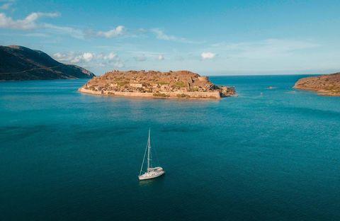 spinalonga island, the blue palace, crete