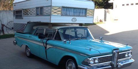 Land vehicle, Vehicle, Car, Edsel ranger, Classic car, Edsel corsair, Full-size car, Classic, Convertible, Sedan,