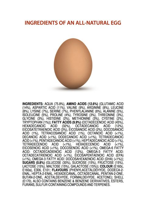 If Natural Foods Came with Ingredient Lists, This Is What They Would Look Like
