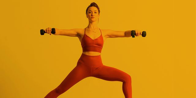 You Ll Love This Weighted Yoga Flow Even If You Re Not A Yoga Person Women S Health