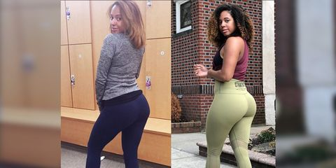 Alysha Arias before and after fitness transformation