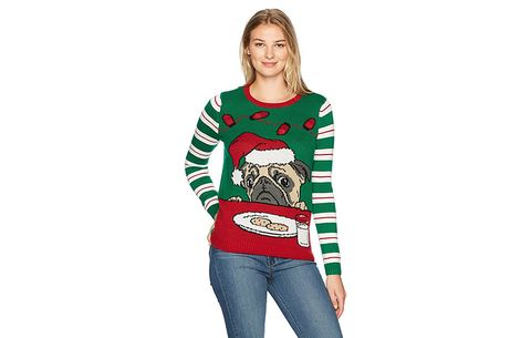 light up pug cookie sweater