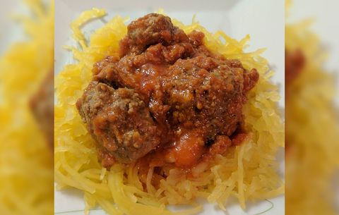 Spaghetti Squash with Beef Marinara