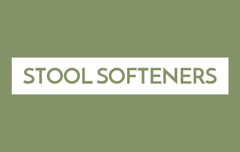 Stool softeners