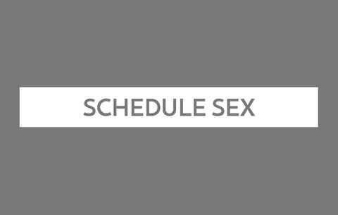 Schedule Sex