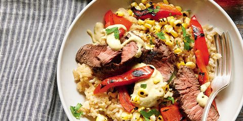 Steak and Pepper Rice Bowl