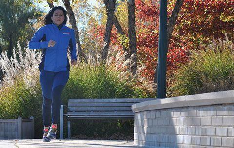 BethAnn Telford running with brain cancer