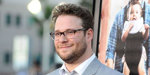 Seth Rogen attends the premiere of 'Neighbors' at Regency Village Theatre on April 28, 2014 in Westwood, California.