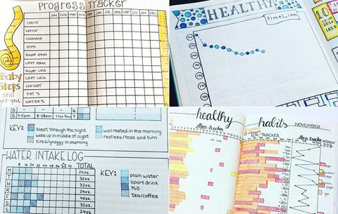 bullet journal 7 formats that can help you lose weight women s health