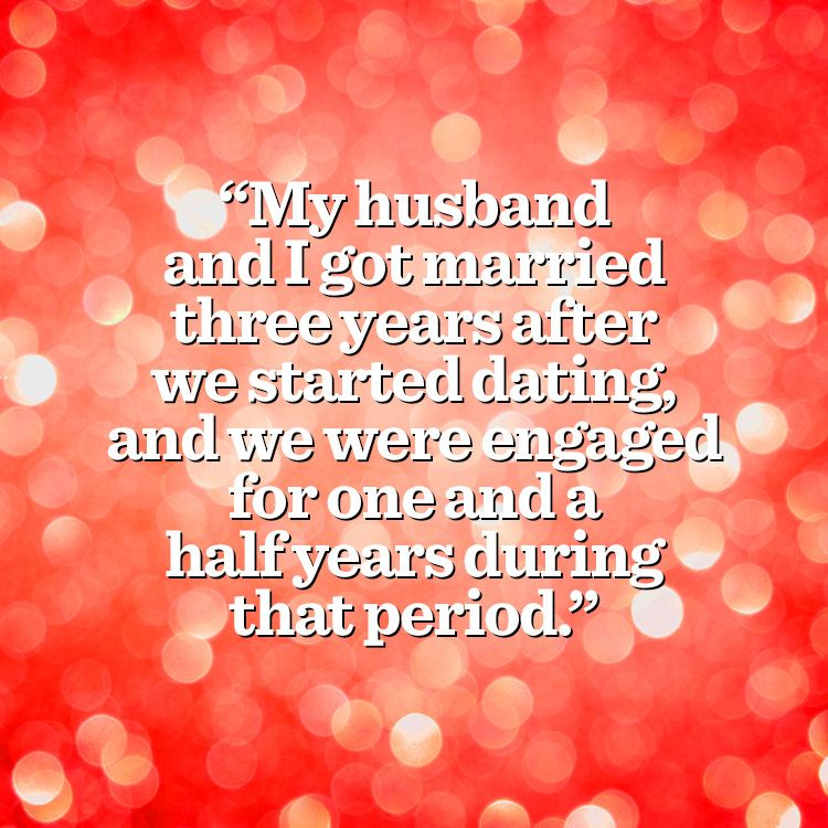 Dating three years before marriage