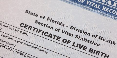 Birth certificate for miscarriage