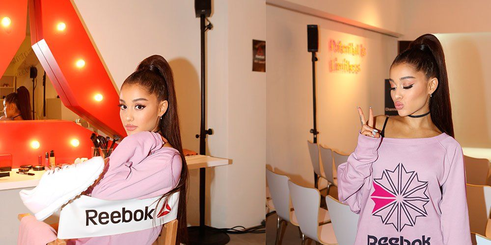 ariana grande reebok self care