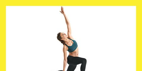 Yellow, Human leg, Shoulder, Elbow, Wrist, Sleeveless shirt, Waist, Exercise, Active pants, Knee,