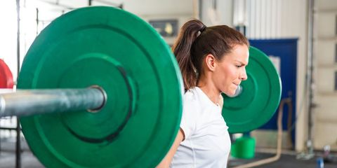Chin, Shoulder, Human leg, Standing, Exercise equipment, Physical fitness, Elbow, Exercise, Weightlifter, Free weight bar,