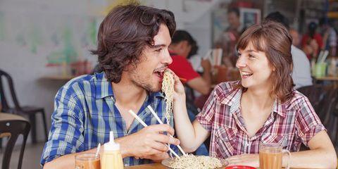 Hair, Face, Table, Tableware, Furniture, Chair, Customer, Beard, Restaurant, Eating,