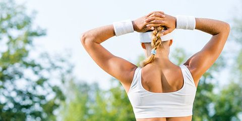 Human body, Shoulder, Elbow, Wrist, Joint, Chest, Waist, People in nature, Summer, Muscle,
