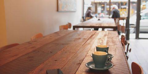 Wood, Coffee cup, Serveware, Dishware, Cup, Drinkware, Table, Furniture, Hardwood, Wood stain,