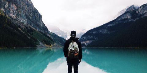 Human, Water, Mountainous landforms, Highland, Mountain, Mountain range, Reflection, Lake, Reservoir, Tarn,