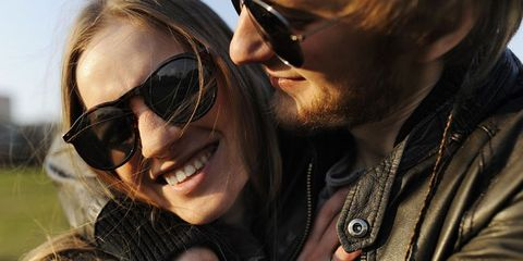 Clothing, Eyewear, Face, Glasses, Ear, Vision care, Lip, Sunglasses, Outerwear, Happy,