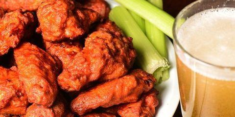 Food, Drink, Fried food, Chicken meat, Tableware, Dish, Ingredient, Recipe, Meat, Juice,