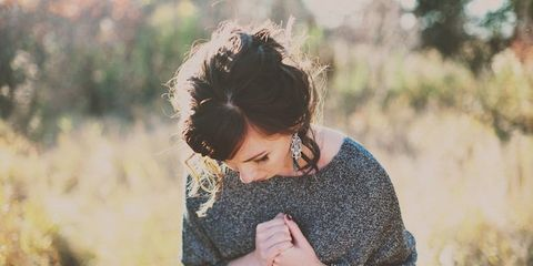 Mammal, People in nature, Fashion accessory, Watch, Jewellery, Grass family, Bracelet, Street fashion, Brown hair, Long hair,