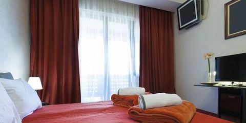 Bed, Room, Interior design, Lighting, Bedding, Bedroom, Property, Bed sheet, Textile, Furniture,