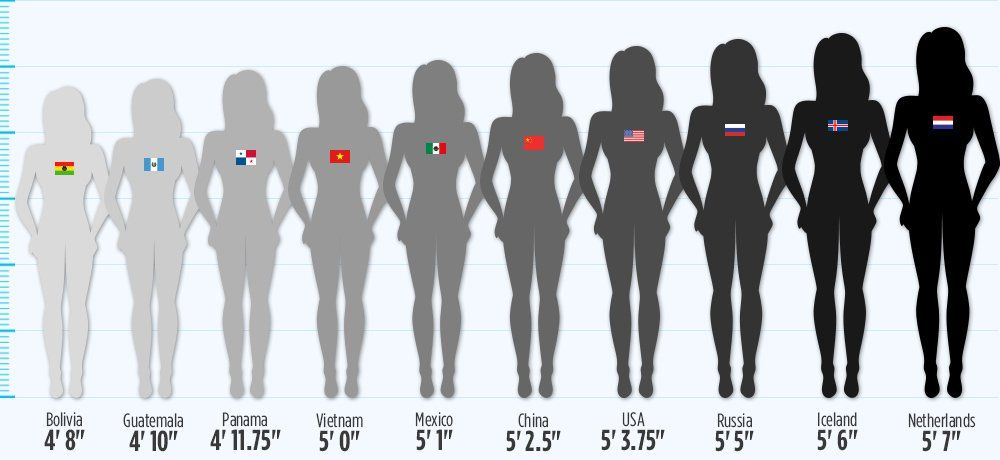 How tall is the average female
