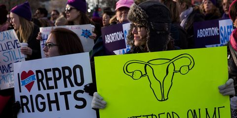 pro choice protesters