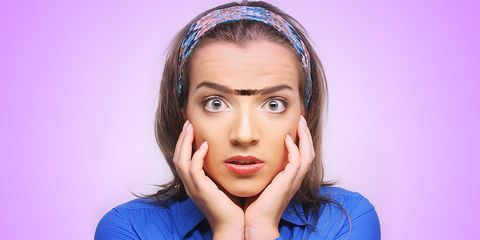 woman with unibrow